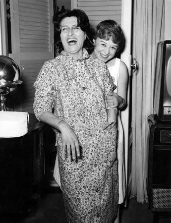 Anna Magnani e Giulietta Masina