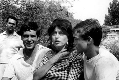 Franco Citti, Anna Magnani, Ettore Garofolo - 1962, Venezia