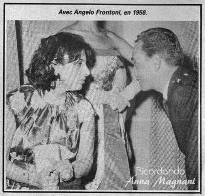 Anna Magnani e Angelo Frontoni