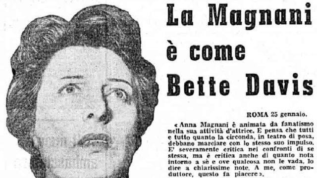 La Magnani come Bette Davis