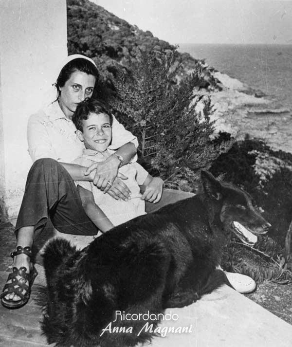 Anna Magnani e Figlio