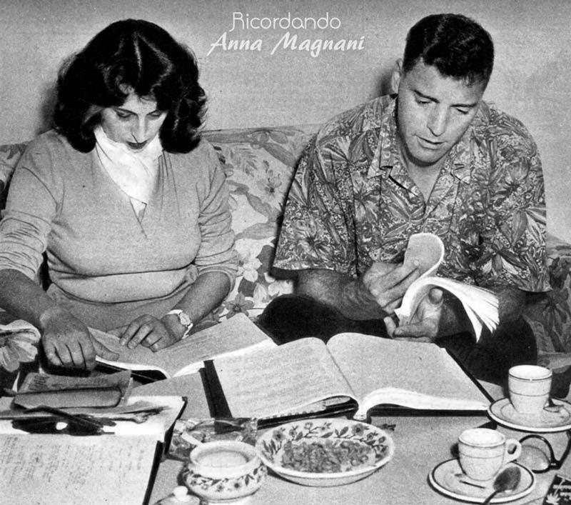Nannarella studentessa d'inglese con Burt Lancaster