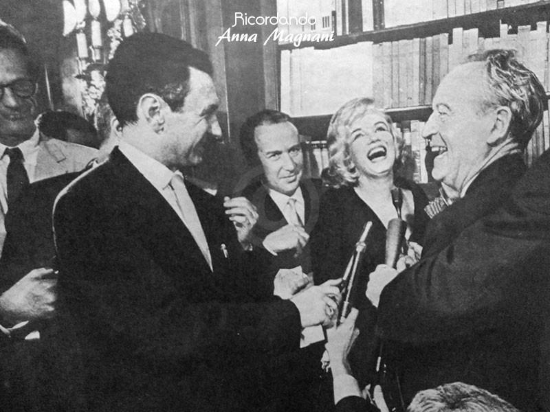 Marilyn Monroe consegna David Donatello