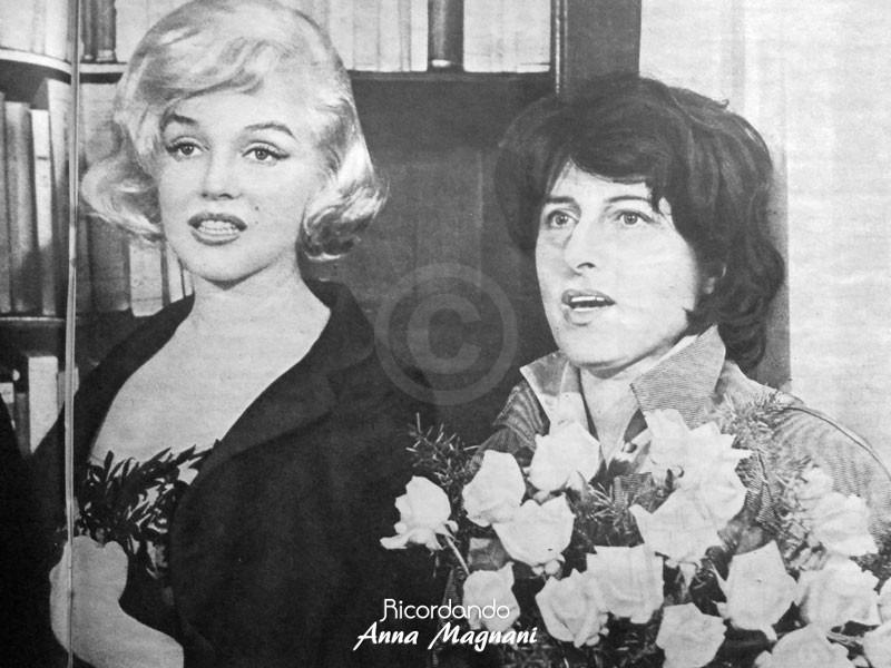 Marilyn Monroe Anna Magnani 1959
