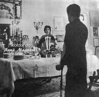 Anna Magnani e figlio a Natale