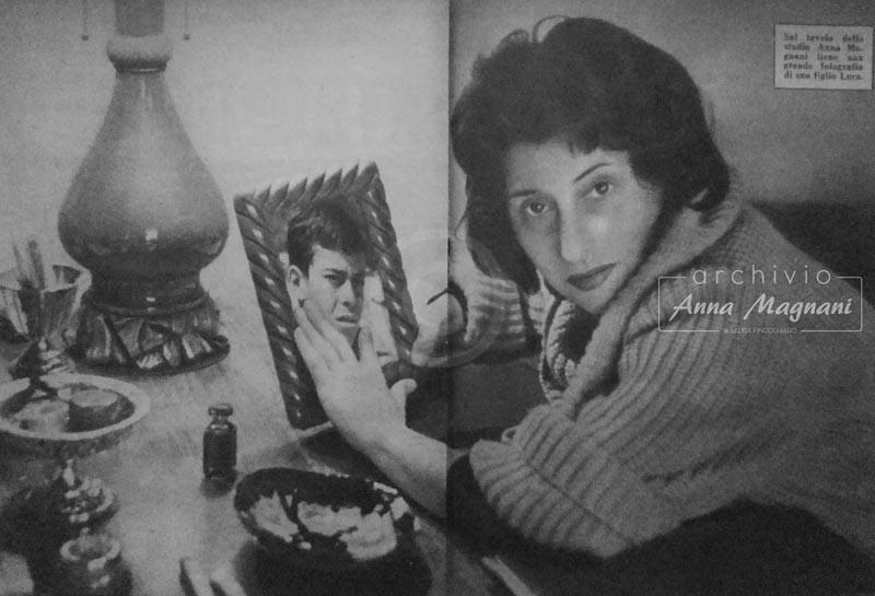 Anna Magnani e suo figlio Luca
