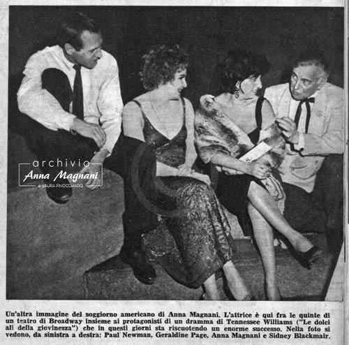 Anna Magnani Paul Newman