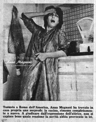 Anna Magnani in cucina