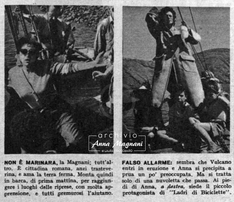 Anna Magnani mare Vulcano