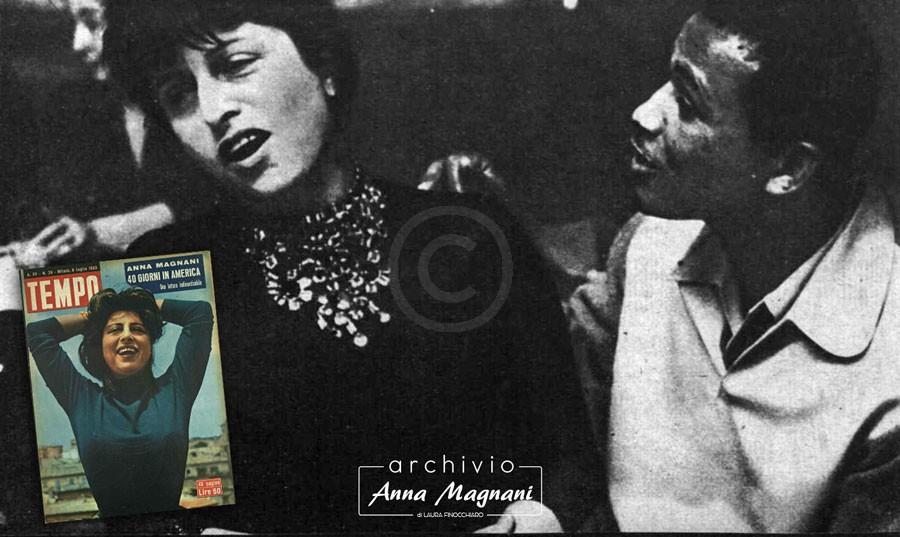Anna Magnani in America Sugar Ray Robinson