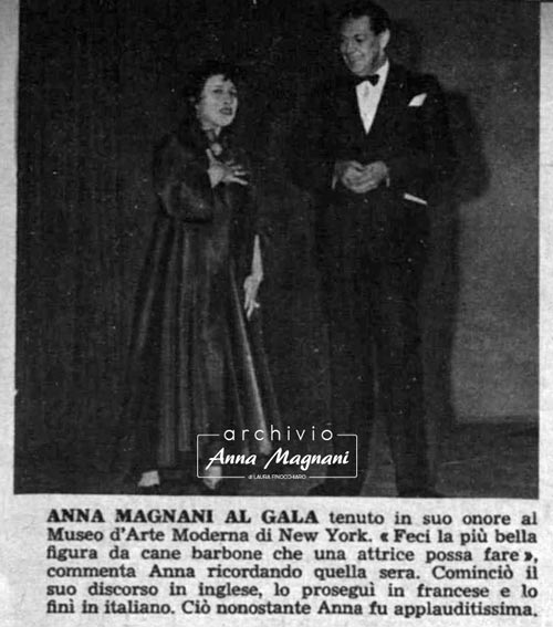 Anna Magnani Museo Arte Moderna New York