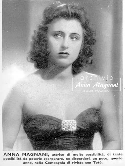 Anna Magnani giovane teatro