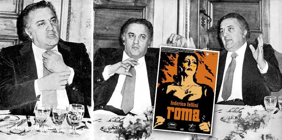 Federico Fellini parla di Roma con Anna Magnani