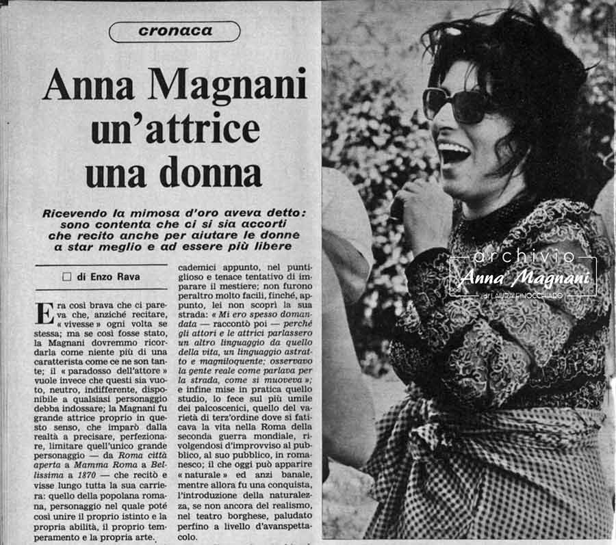 Anna Magnani un'attrice una donna