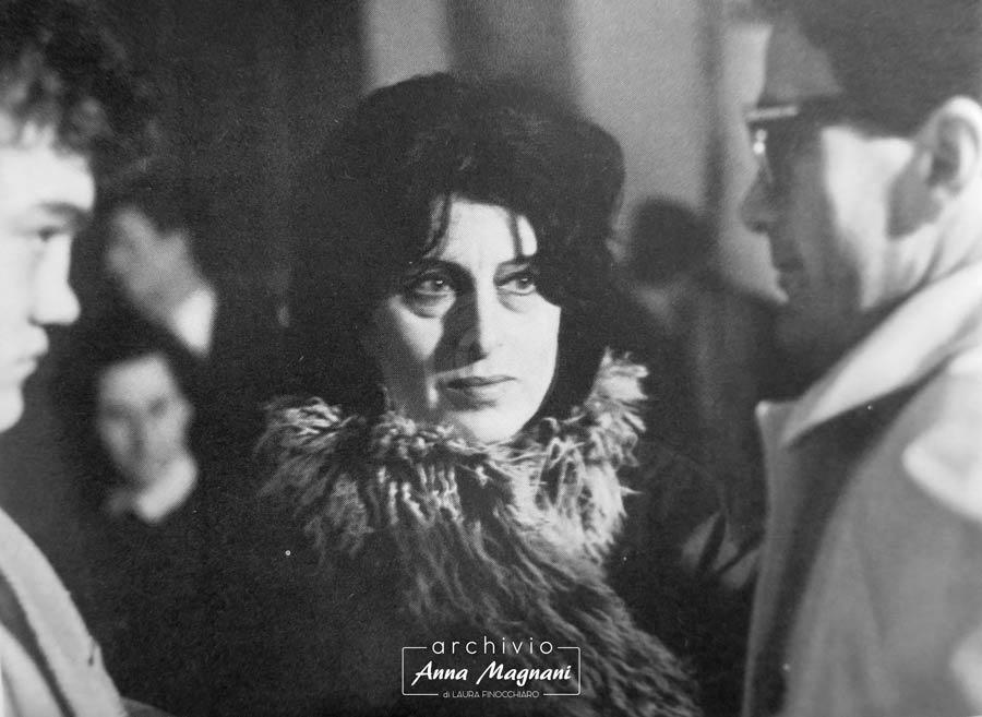 Pasolini e Anna Magnani sul set di Mamma Roma