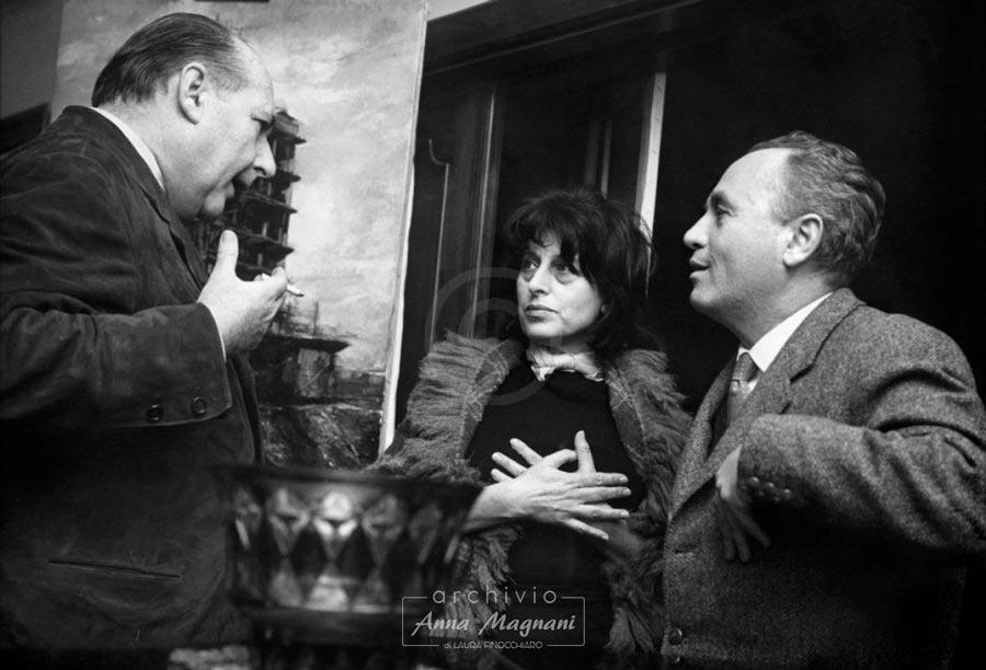 Roberto Rossellini, Anna Magnani e Ugo Pirro